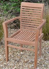 chester teak fixed garden armchair and