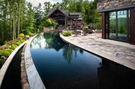 edge raised patio  acm design western nc mountain retreat jpgrendhgtvcom