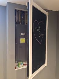 17 best ideas about electric box laundry room chalkboard door to cover electrical panel