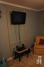 hiding tv cords on wall