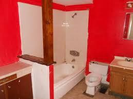 ugly bathroom bad red paint job flooring phoenix arizona home house photo