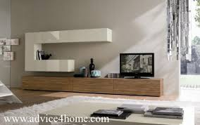 Small Picture wall and white brown LCD TV wall design in living room