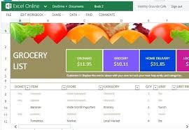 Grocery List Prices Grocery List And Price Comparison Template For Excel Online