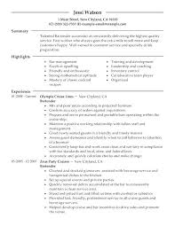 Bartending Resume Template Unique Resume For Bartender Format Skills This Is Examples Templates