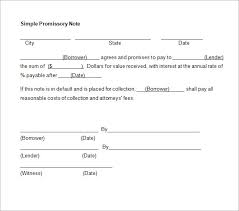 Free Sample Promissory Note Template