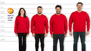 Customink Com Size Chart Customink Com Sizing Line Up For Jerzees Super Sweats 50 50