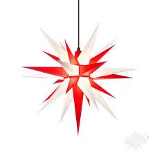 Herrnhuter Stern Set Sternkabel Außen A7 70cm Weiß Rot Adventsstern Weihnachtsstern