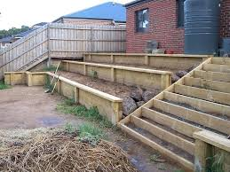 timber retaining wall design pretty timber sleeper retaining wall design