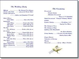 sample wedding program wording wedding programs wording templates printable wedding program