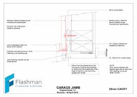 flashman flashings garage door jamb
