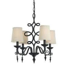 8601 4 light bronze mini chandelier