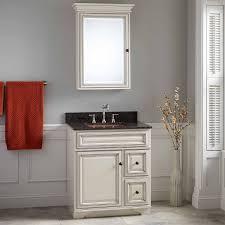 antique white bathroom cabinets. optional mirror with copper sink antique white bathroom cabinets i