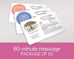 gift card formats gift card ten 60 minute massages