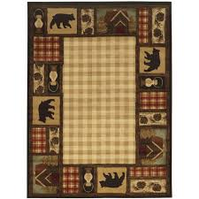 lodge area rugs this review is frommountain top beige 5 ft 8 ft area rug