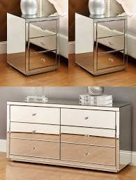 vegas white glass mirrored bedside tables.  Glass On Vegas White Glass Mirrored Bedside Tables E