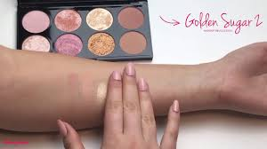 swatches golden sugar 2 rose gold makeup revolution