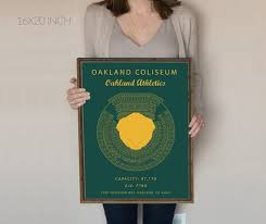 Oakland Coliseum Seating Chart Oakland Athletics Oakland Alameda County Coliseum Oakland Coliseum Sign Oakland Athletics Art Mlb Art