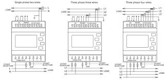 3 phase 4 wire kwh meter wiring diagram images mid approved sdm630m ct three phase 4 wires din rail mounted