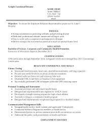 Health Fitness Specialist Sample Resume Podarki Co