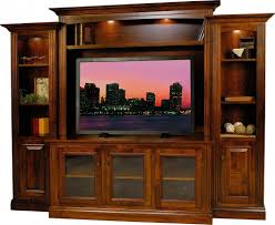 In Wall Entertainment Cabinet Amish Berlin Tv Entertainment Center Solid Wood Media Wall Unit
