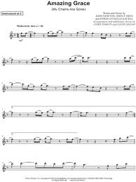 Simply follow the colored bars and you'll be playing amazing grace on the piano instantly! Chris Tomlin Amazing Grace My Chains Are Gone C Instrument Sheet Music Flute Violin Oboe Or Recorder In F Major Download Print Sku Mn0138295