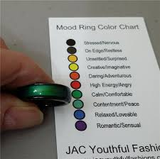 Mood Ring Chart Details About Natural Gemstone Magnetic Hematite Mood Ring With Mood Chart Size 5 6 7 8 9