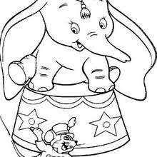 Small Picture Dumbo and the elephant coloring pages Hellokidscom