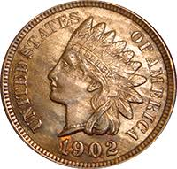 Indian Penny Value Chart 1902 Indian Head Penny Value Cointrackers