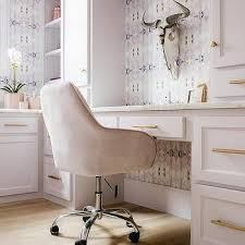pink office desk. Light Pink Cabinets With Brass Pulls Office Desk G