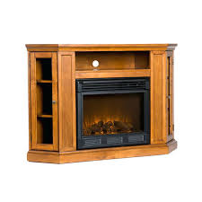 rustic electric fireplace tv stand oak with and media storage for inch design screens target