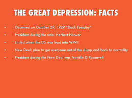 the great depression by damaris garay the great depression facts