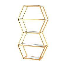 brass corner shelving unit best rose gold copper images on glass shelf s round brass shelf unit