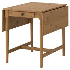 INGATORP drop-leaf table, antique stain Length: 34 5/8