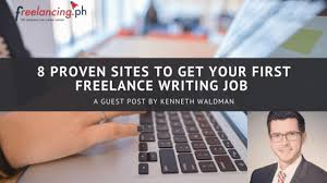 proven sites to get your first lance writing job