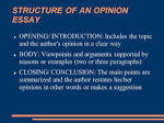 Opinion essay ppt