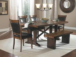 modern dining table with bench. Elegant-dining-table-with-benches-and-modern-candeliers- Modern Dining Table With Bench B