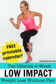 4 week low impact weight loss workout plan