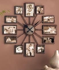 wall clock of photo frames home clock