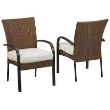 corranade custom wicker outdoor dining chairs 2 pack with cushions included choose