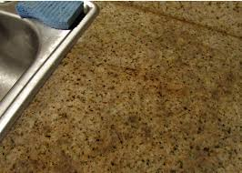 working so well on that stain i figured i may as well do that entire portion of the countertop more baking soda was sprinkled on and wetted