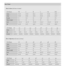 Columbia Size Chart Columbia Mens Size Chart Jpg