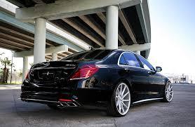 HD wallpaper: black sedan, tuning, Mercedes, Voss, Vossen, S63 AMG ...