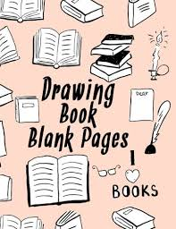 by dartan creations drawing book blank pages 8 5 x 11 120 unlined blank pages for unguided doodling drawing sketching writing