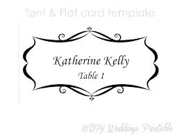 Dinner Name Card Template Table Name Plate Template