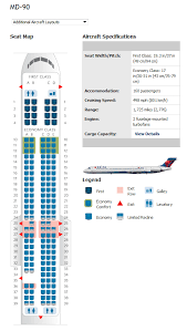 Delta Connection Seating Chart Delta Airlines Aircraft Seatmaps Airline Seating Maps And