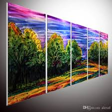 2019 modern contemporary abstract painting abstract wall art modern abstract wall art home decor metal wall art oil painting wall art from alexzl