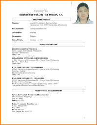 Sample Resume Format Example For Ojt Latest Free Templates Biodata