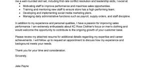 Boutique Owner Resume Leading Retail Cover Letter Examples Resources