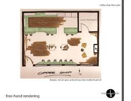 Do you feel that you do not have enough ideas to make the place unique and outstanding? Cafe Freehand Floor Plan Rendering Design Style Daily