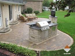 patio pavers. Brilliant Patio Patio Pavers With TV Stand And Grilling Station In Pavers S